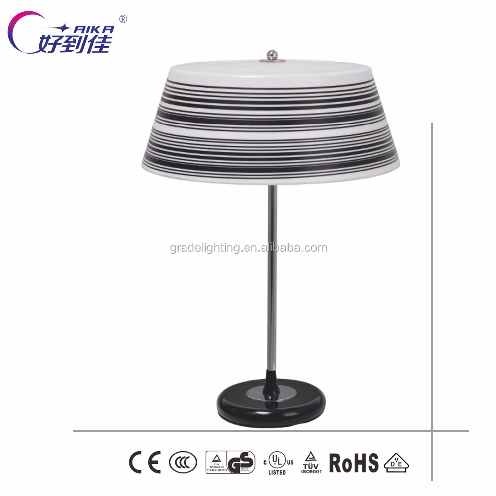 Round shade Table Lamp Zebra Line Table Light for Home OR Living Room Decorative