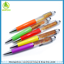 Promotional aqua liquid ball pen with custom PVC or 3D floater