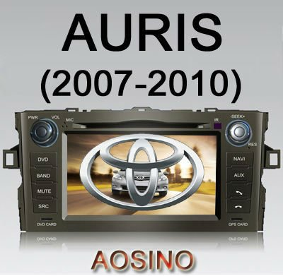 2010 TOYOTA AURIS CAR DVD PLAYER / car GPS audio radio stereo player