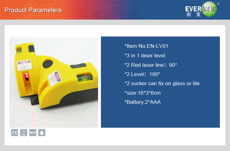 635nm laser wavelength Bubble level laser level