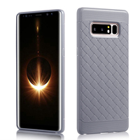 Hot selling products tpu flexible cell phone case cover weave leather pattern phone case for samsung galaxy note 8