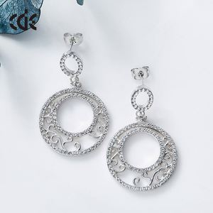 Latest Factory price Women Drop Round Earring Designs