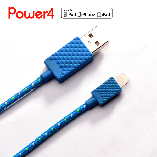New MFi Certified 8pin Nylon Braided USB Cable Data Sync Charging Cable for Apple iPhone 6 6S 6 Plus 5 5S iPad Air iPod