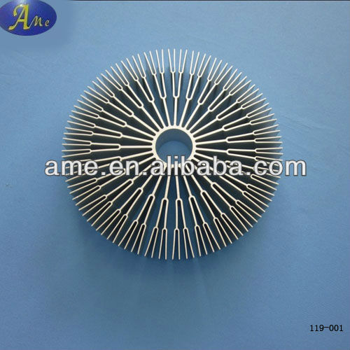 Extruded aluminium profile heat sink