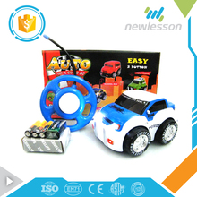 2 channels easy button control funny baby cartoon taxi mini car toy with lights