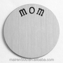 B14 Bulk price for stainless steel initial disc floating locket plates