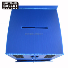 30*30*30cm PP Corrugated ballot box plastic collapsible ballot case& bin for 2017 election