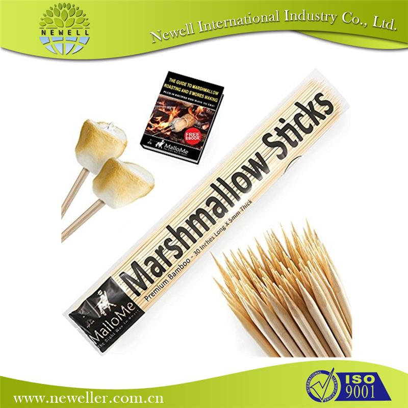 food grade promotional wood marshmallow stick for home