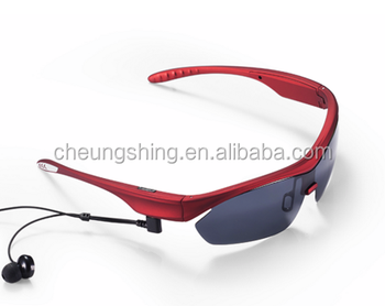 2016 outdoor sporty activities UV protect tac polarized bluetooth sunglasses