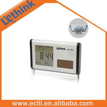 Plastic LCD digital display with weather forecast clock