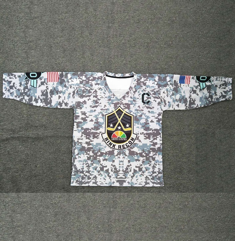 Best quality custom design goalie cut ice hockey jerseys made in china