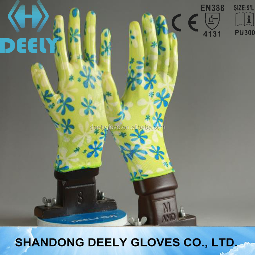 13G blue latex coated work gloves, rubber coated cotton gloves nitrile coated work gloves,rubber coated work
