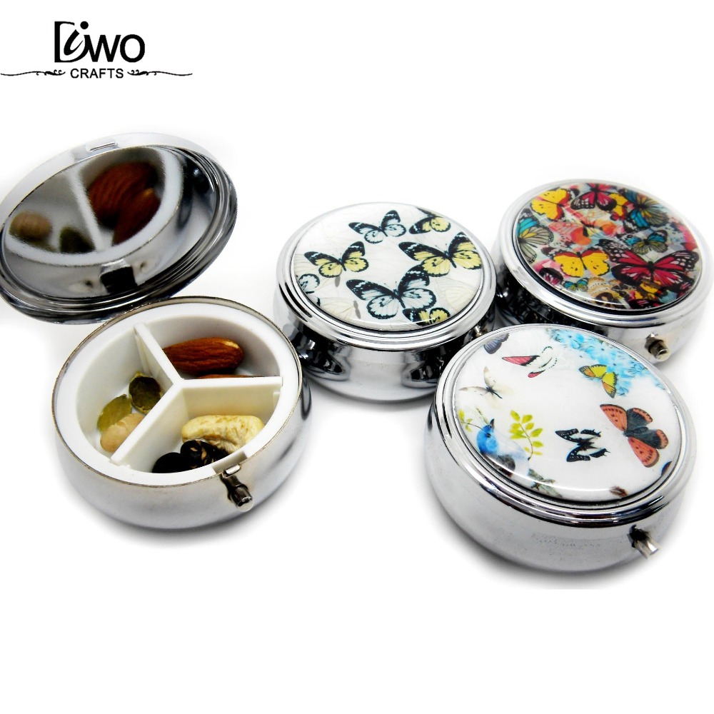 Custom 7 days height pill metal round pill box wholesale
