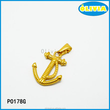 Top selling products gold anchor pendant