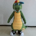 Cute crocodile mascot costume with cap/animal mascot costume for sale