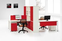 2012 new hot-sale 4 seats office desk with bookcase and cabinet