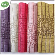 1mm eco-friendly PU synthetic animal leather for leather bag