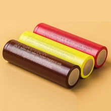 Yellow 18650 Battery for e cig mod IMR Rechargeable lg 18650 2500MAH