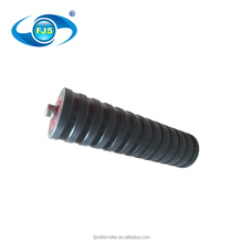 High toughness aluminum construction machine impact idler roller