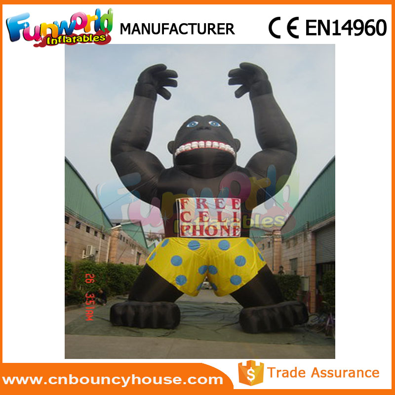 2017 inflatable king kong for advertising inflatable gorilla