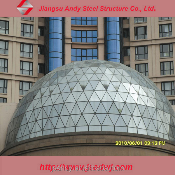 Dome type glass skylight roof
