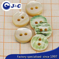 2015 Manufacture white color cat eye shell button