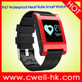0.95'' OLED Touch IP67 Waterproof 120mAh Battery heart rate monitor and Blood Pressure Monitor DM68 Smart Watch