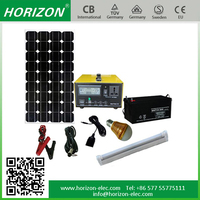 LCD Display DC/AC 100W panel solar kit 300W inverter, 50AH Battery solar system facts about the planets