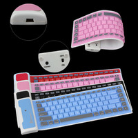 Colorful Soft Silicone Bluetooth touch keyboard cover for iPad Air 2, for iPad Air 2 Slim keyboard Cover