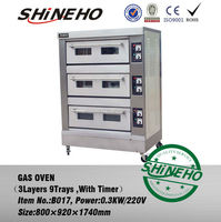 Brick Gas Pizza Oven/full bakery equipment/bakery Processing machine