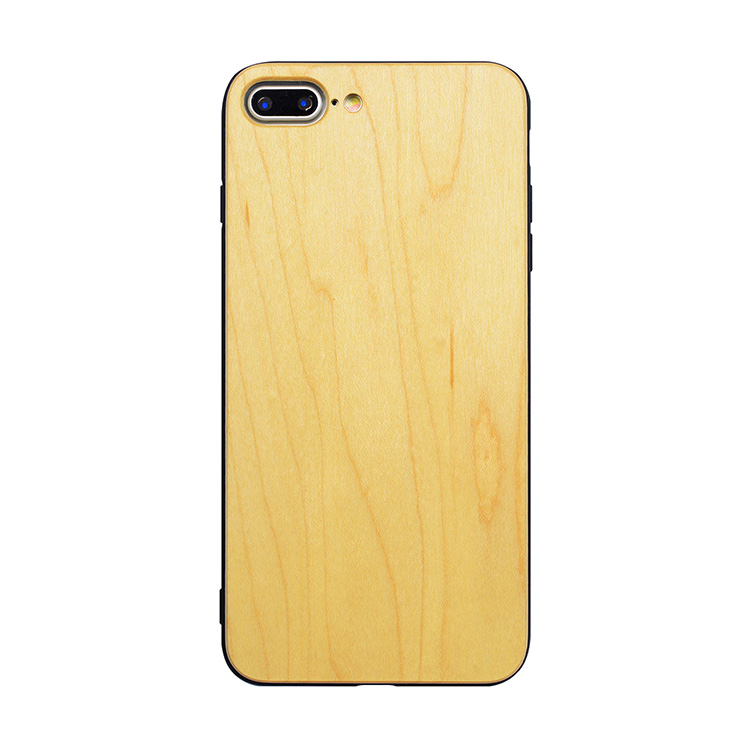 Handmade natural 100% wooden for iPhone 8 case, custom logo wood case for iPhone 8 mobile phone accessories