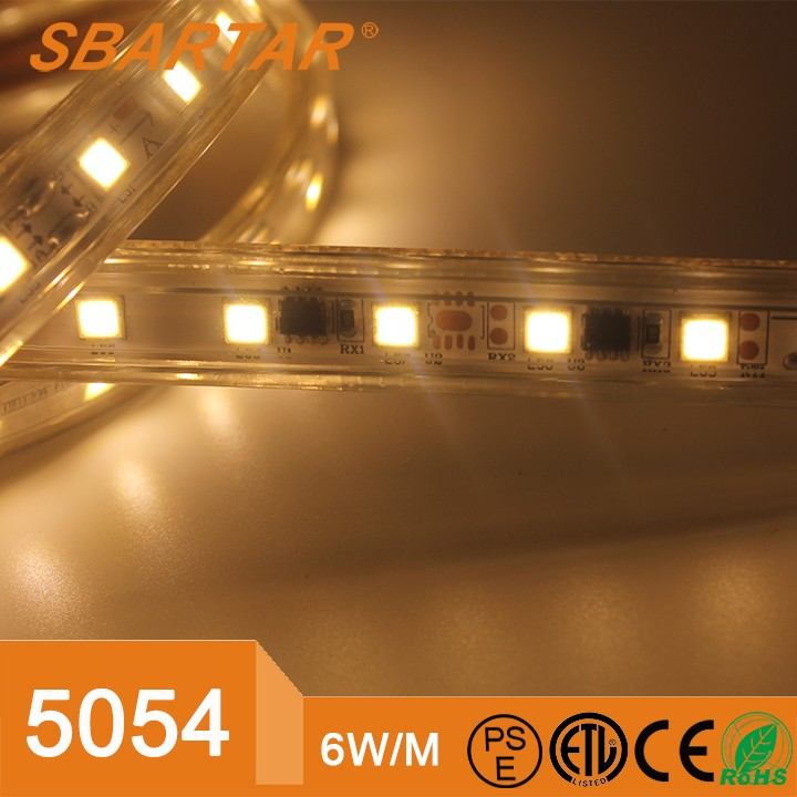 900lm Shenzhen 5054 smd led strip 50m 60leds/m 5054 led light strip waterproof 12w
