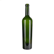 Customized Design Dark Green Glass Red Colored Wine Bottles