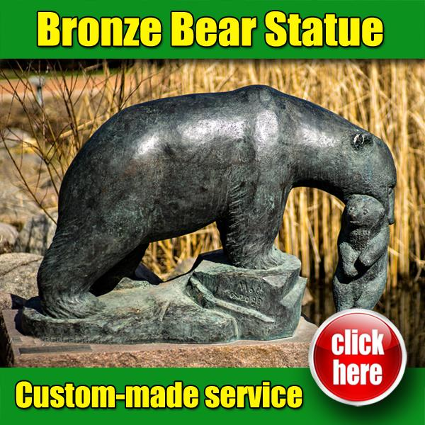 Professional black Bear Statue outdoor for Garden Decoration