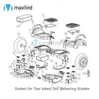 Hoverboard Parts Screws 86 pcs in One set for Two Wheel 6.5/8/10 inch Self Balancing Scooter