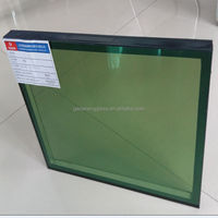 6.38mm clear laminated glass +12A(agron)+6mm tempered low-e insulated glass glass window