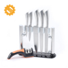 Chef Bread Carving Kitchen Knives with Sharpener and Acrylic Stand Block
