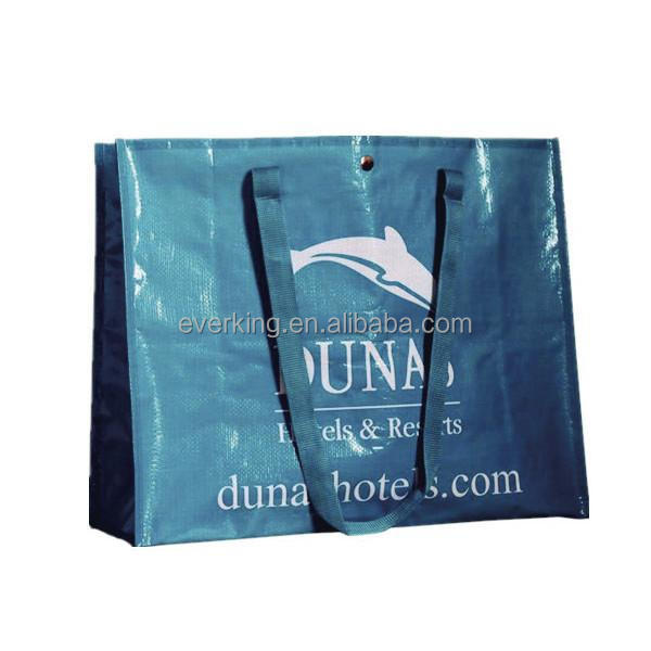 recycled pp woven laminated shopping bags glossy pp woven bags for advertising