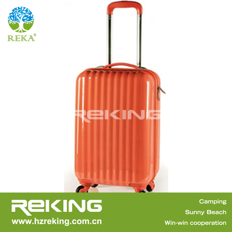 ABS + PC Trolley Suitcase Luggage Case Orange