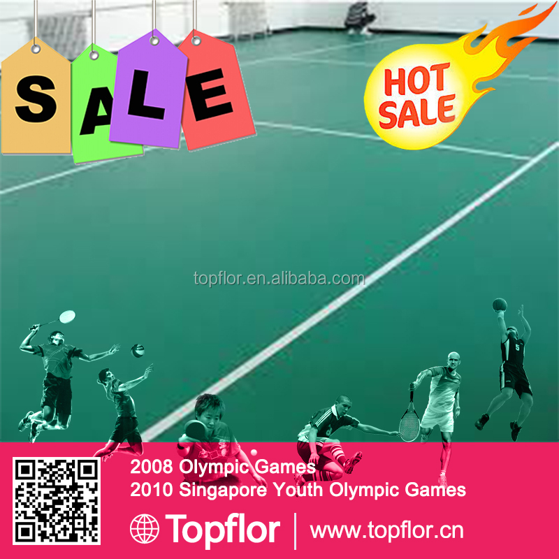 Cheaper New Design PVC Sports Flooring Badminton Court Sports Mats