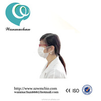 2015 wanmuchun&OEM anti virus medical consumables Disposable surgical protective white masks face with ear loops in low price
