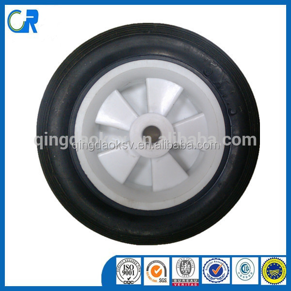 manufacture heavy duty 5 Inch Small Caster Wheel plastic rim solid rubber wheel