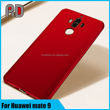 New arrival luxury bright smooth case for huawei mate 9 original simple color polished hard plastic phone case