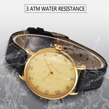 3 ATM Water High water-resistance Mineral glass Import high Genuine leather strap with smooth surface watch women lady