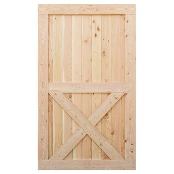 Unfinished knotty alder solid wood core interior barn door - Knotty alder interior doors sale ...