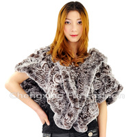 CX-B-105A Rex Rabbit Fur Wedding Bridal Shawl And Wraps