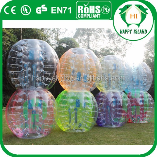 Giant indoor bubble soccer set, human bubble ball