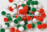 7mm Iridescent Multi Tinsel Pom Poms