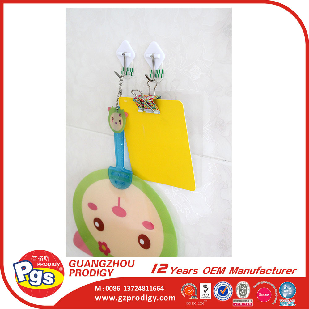 removable adhesive plastic wall hook
