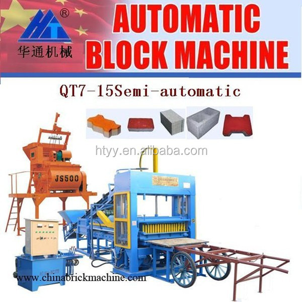 QT7-15 Semi-automatic clc bricks manufacturing process